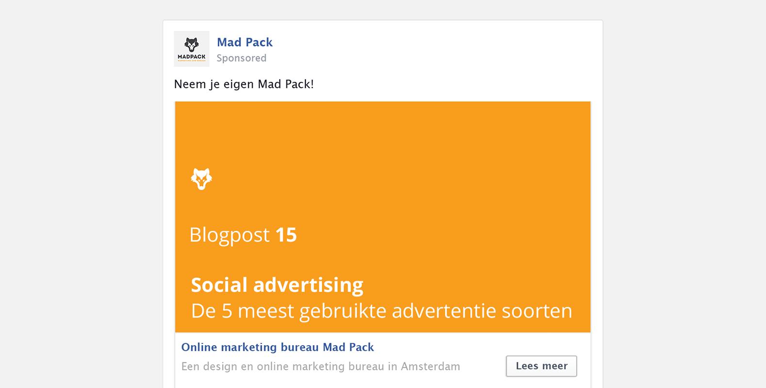 Social advertising: de 5 meest gebruikte advertentie soorten