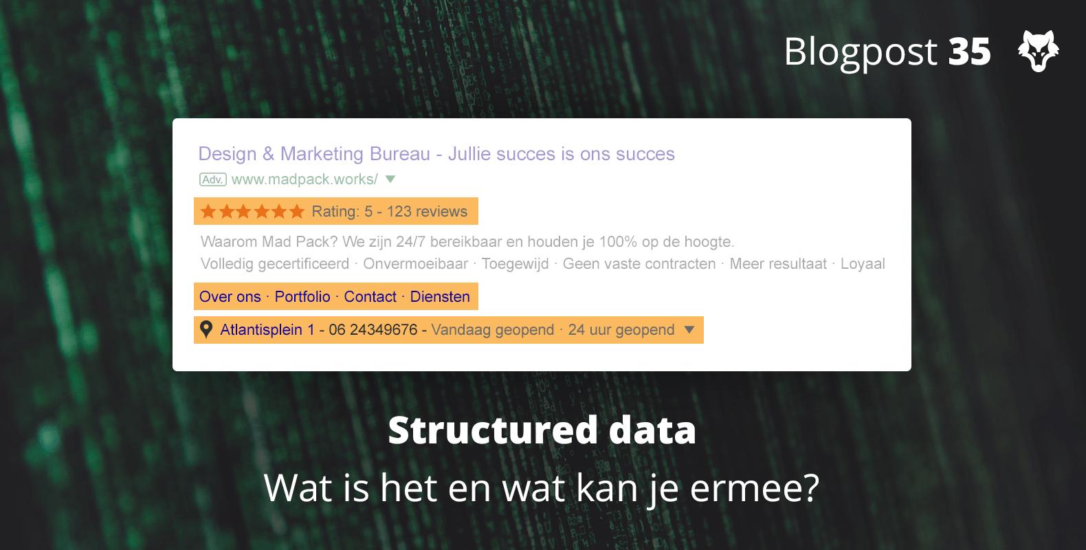 Wat is structured data en wat kun je ermee?