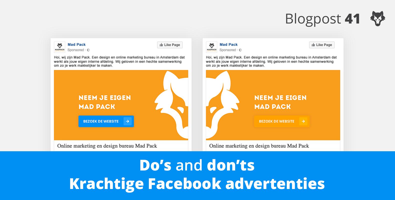 De do's and dont's bij het ontwerpen van krachtige Facebook advertenties